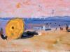 Le parasol jaune sur ciel rose, 1955