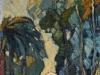 Les platanes, hst, années 30, coll Musée Rigaud.