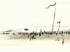Plage aux drapeaux, 1954